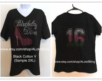 Birthday Diva Rhinestone T-Shirt