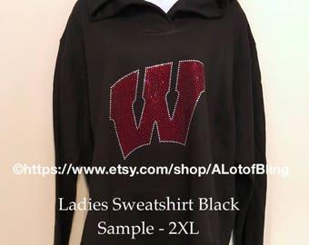 Wisconsin Badgers Rhinestone T-Shirt