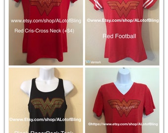 Wonder Woman Rhinestone T-Shirt