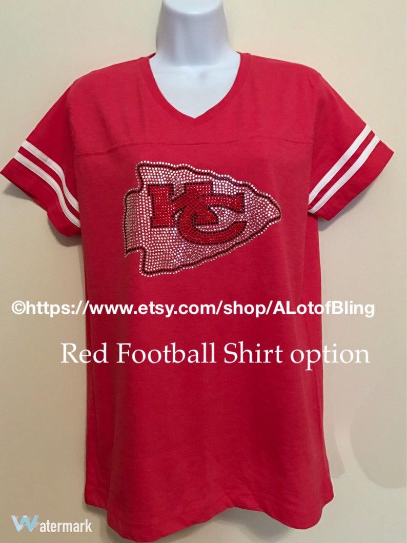 49ecc8d5e81e9 Kansas City Chiefs Rhinestone T-Shirt