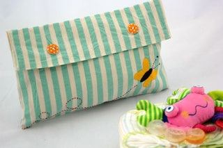 Diaper Bag Organizer, Diaper Bag For Boys, Baby Shower Presents, Diaper Holder, Best Baby Shower Gifts, Diaper Clutch Blue With A Butterfly
