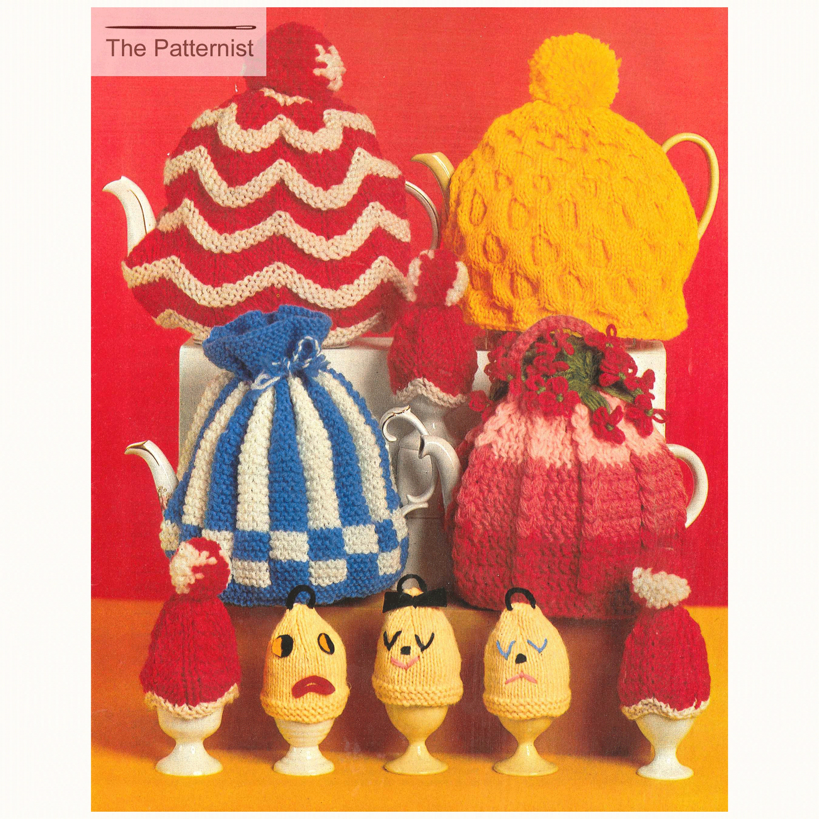 Knitting Pattern And Crochet Pattern For Tea Cosies And Egg Etsy