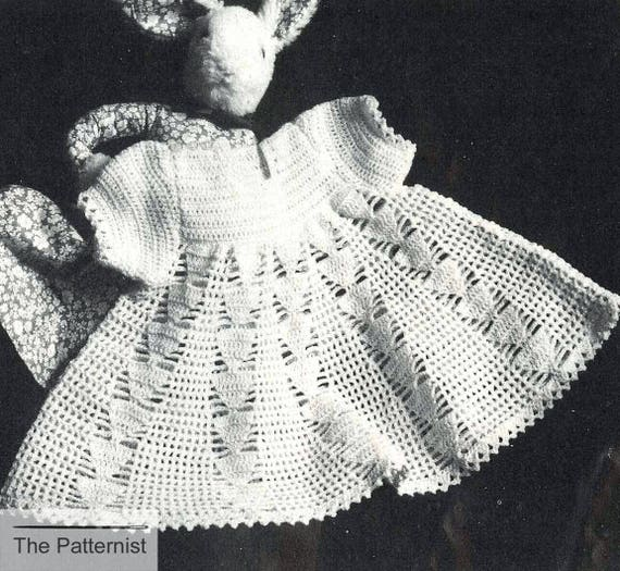 Vintage Crochet Pattern For Baby Dress Baby Dress Crochet Etsy