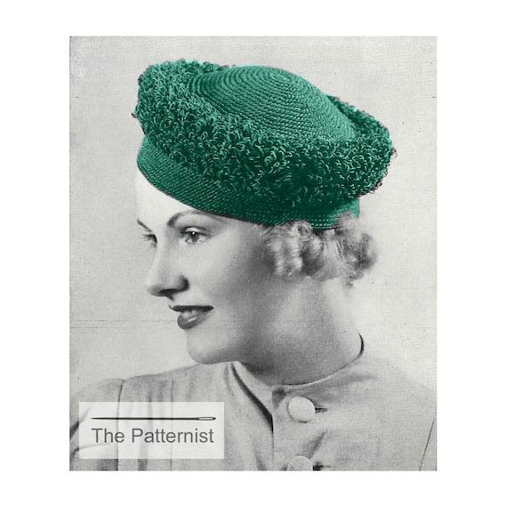 Vintage Crochet Pattern 1930s Women s Loop-Stitch Hat PDF  c98e120f31e