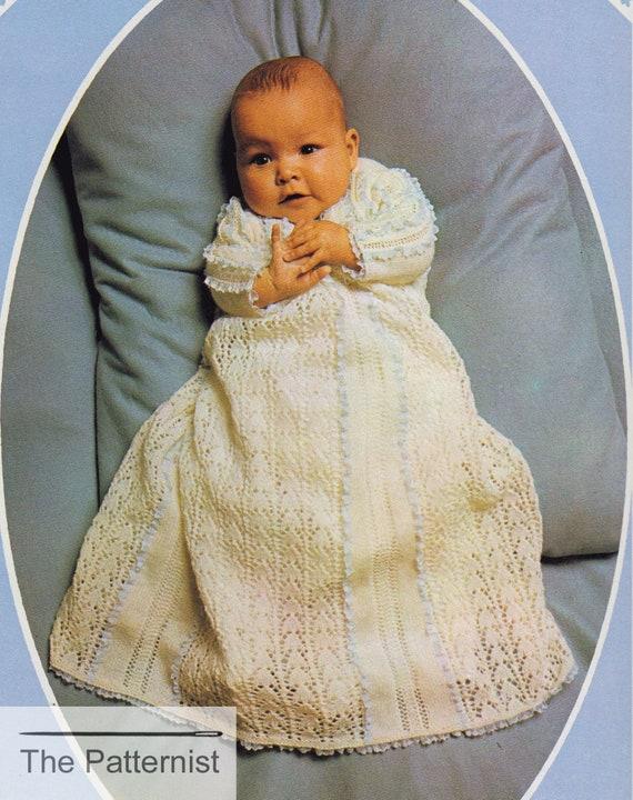 Christening Dress Pattern Vintage Knitting Pattern For Etsy