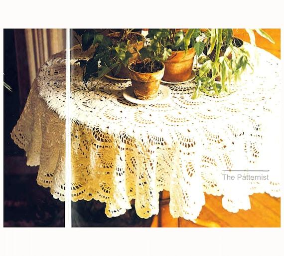 Circular Tablecloth Crochet Pattern Vintage Size 3 Crochet | Etsy