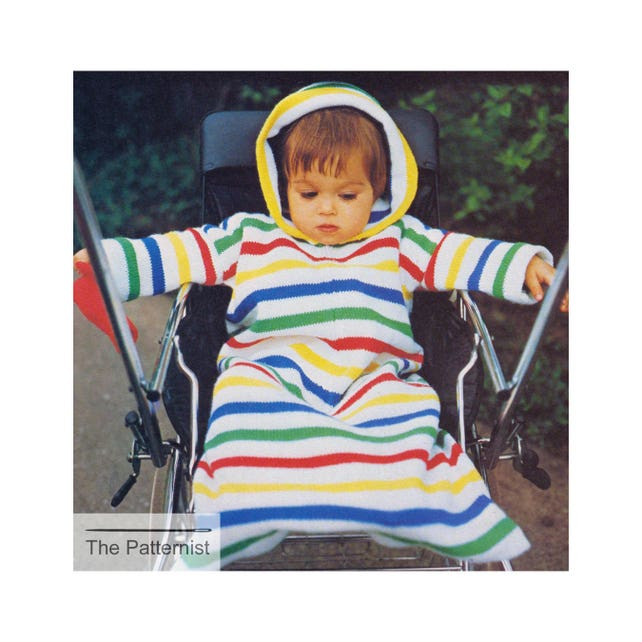 Knitting Pattern For Baby Bunting Bag Stroller Wearable Etsy