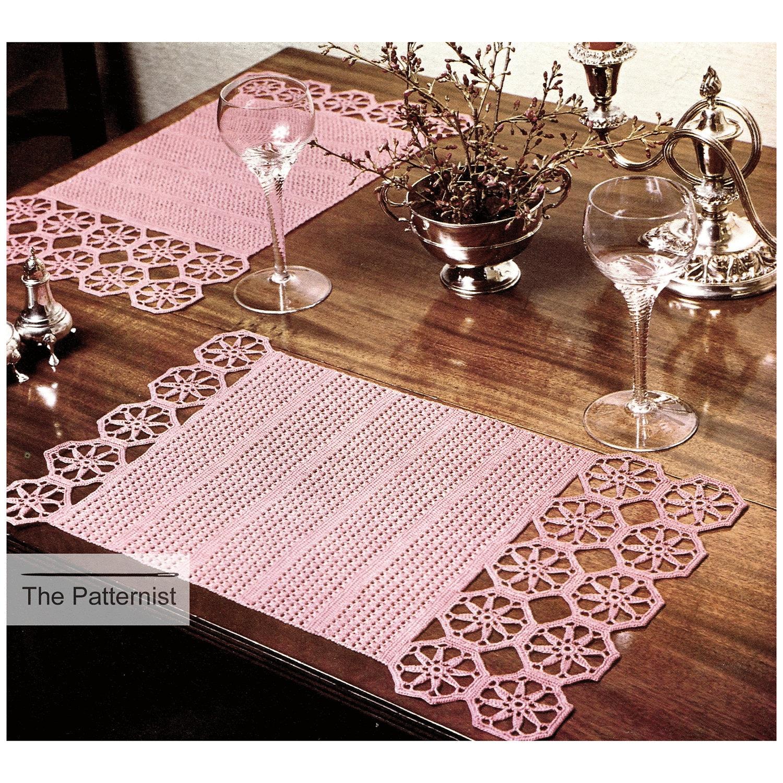 Vintage Crochet Pattern Octagon-Motif Placemats Table Mats   Etsy