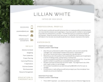 Professional Resume, Modern Resume, Professional Resume Template Word / CV  Professional, CV Modern Template For Word, Modern CV Templates