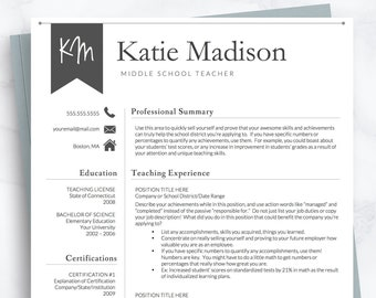 Cover Letter 3 Page Resume Teacher Resume Template for Word Elementary Teaching CV Professor Principal Professional Resume Education
