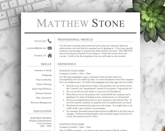 Professional resume template for word pages professional etsy professional resume template for word pages one two and three page resume template professional cv template instant download resume thecheapjerseys Choice Image
