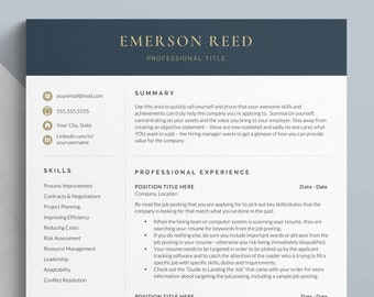 Modern Executive Resume Template 2021   CEO Resume Template for Word and Apple Pages, C Level Resume   1, 2, 3 Page Director Resume Template