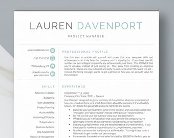 Resume Template CV Design Creative Curriculum Vitae Modern Instant Download Sales