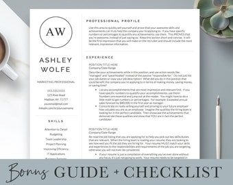 creative resume template resume for word and pages 1 2 etsy