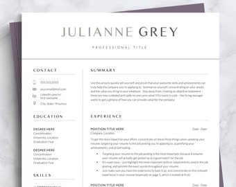 references and guides Sales manager resume template for Word and Pages in a simple and professional design cover letter 3 page resume
