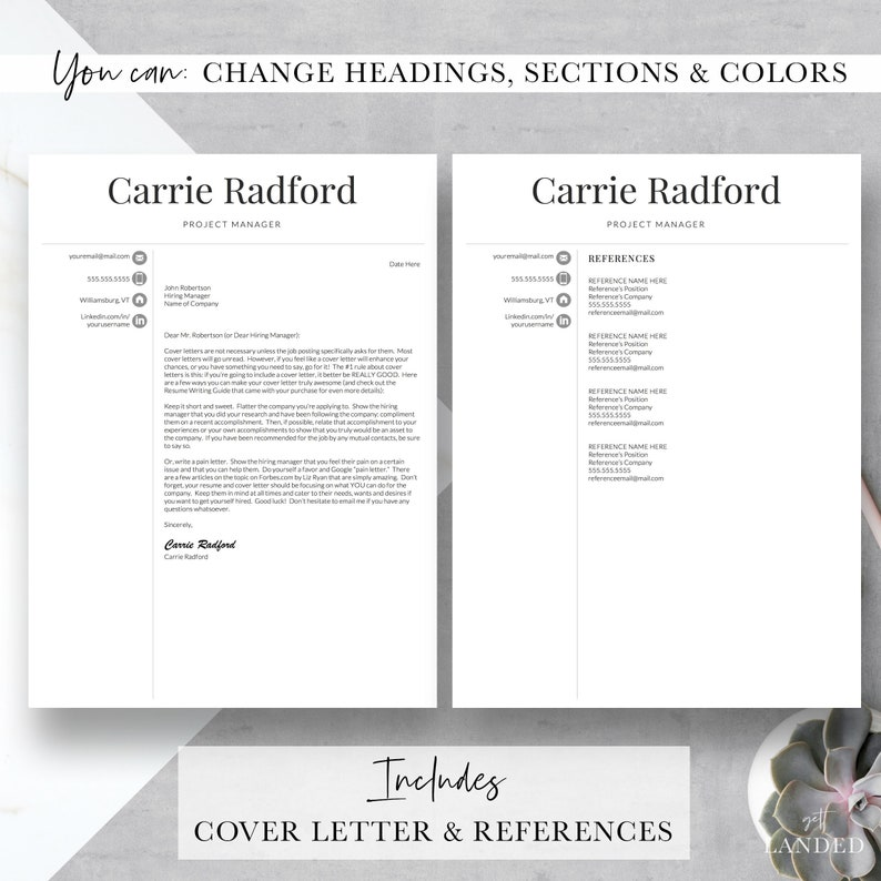 professional resume template for word  u0026 pages professional