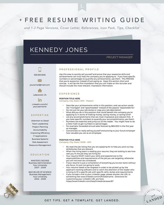 Project Manager Resume from i.etsystatic.com