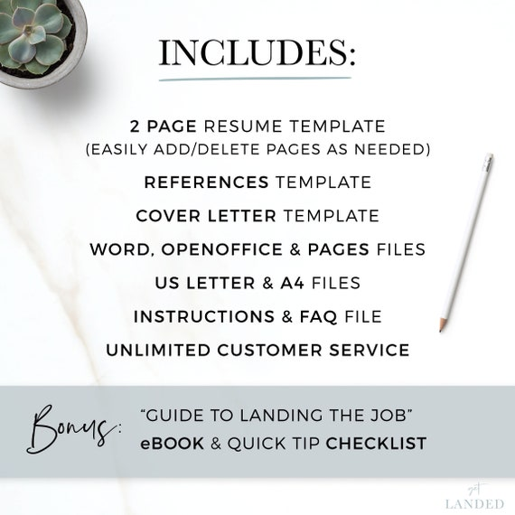 Professional Resume Template For Word Pages Open Office Ats Resume Professional Cv Template Clean Resume Simple Resume Template