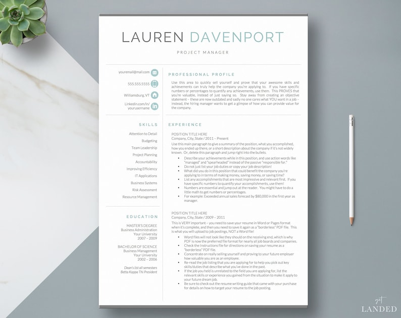 Resume Template CV Design Creative