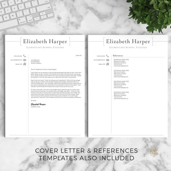 Teacher Resume Template for Word & Pages Teacher CV