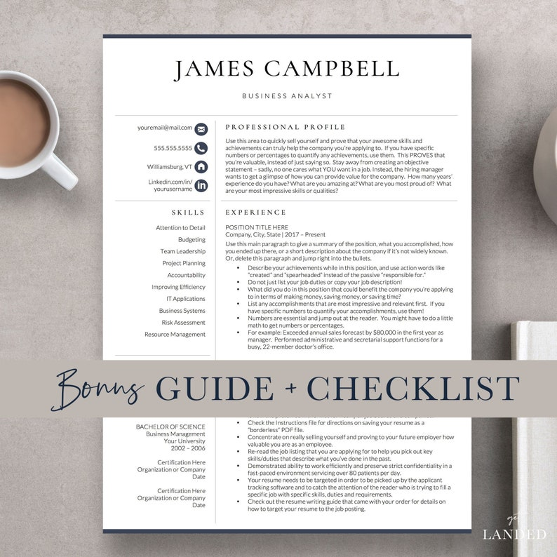 Executive Resume Template Professional For
