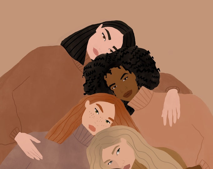 Featured listing image: Women supporting women illustration