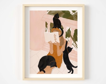 Does my cat love me? Giclée print