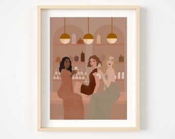Out with the girls Giclée print