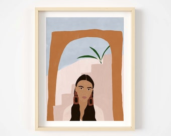 Desert girl Giclée print