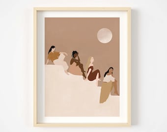 Women illustration print