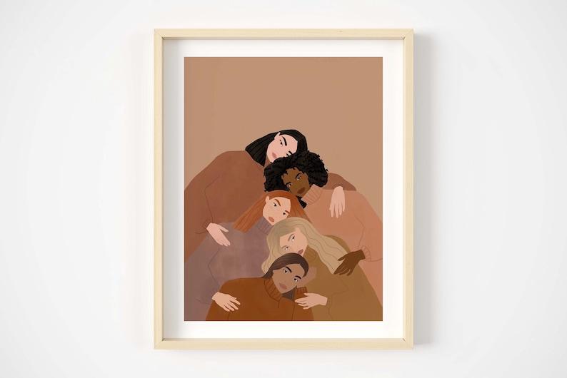 women empowerment art print diversity art print female image 0