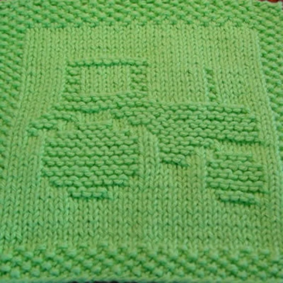 Tractor Knit Dishcloth Pattern Only PDF Digital Download
