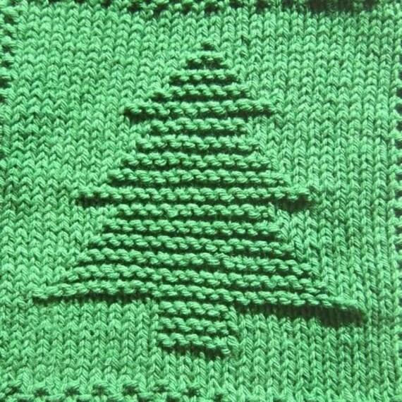 Christmas Tree Knit Dishcloth Pattern Only Pdf Digital Etsy