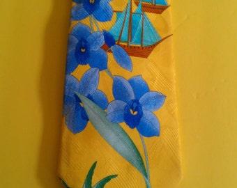 Vintage Silk Leonard Paris Tie Design Number 69593