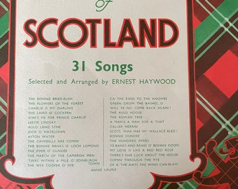 VOCAL GEMS of SCOTLAND, 31 Songs Selected and Arranged by Ernest Haywood.  Vintage Sheet Music Book Published by Keith Prowse Music, London