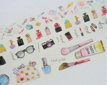 Girly Make Up Washi Tape Sample Set
