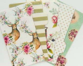 Woodland Planner Dividers - Personal / A5 / Pocket Filofax Dividers