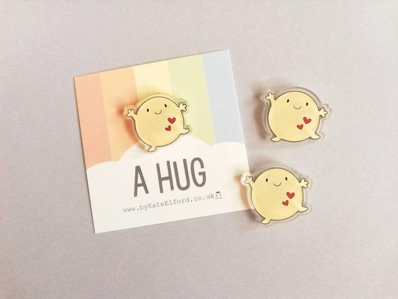 A hug magnet cute mini positive fridge magnet tiny image 0