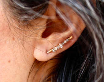 Pendientes escaladores Bubbles worm earrings Larva earrings STONE CLIMBER Earrings,Black Star gemstone Gemstone Sterling silver jewelry