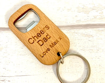 Leather Keyring Birthday Name Optional Engraving Tyrell