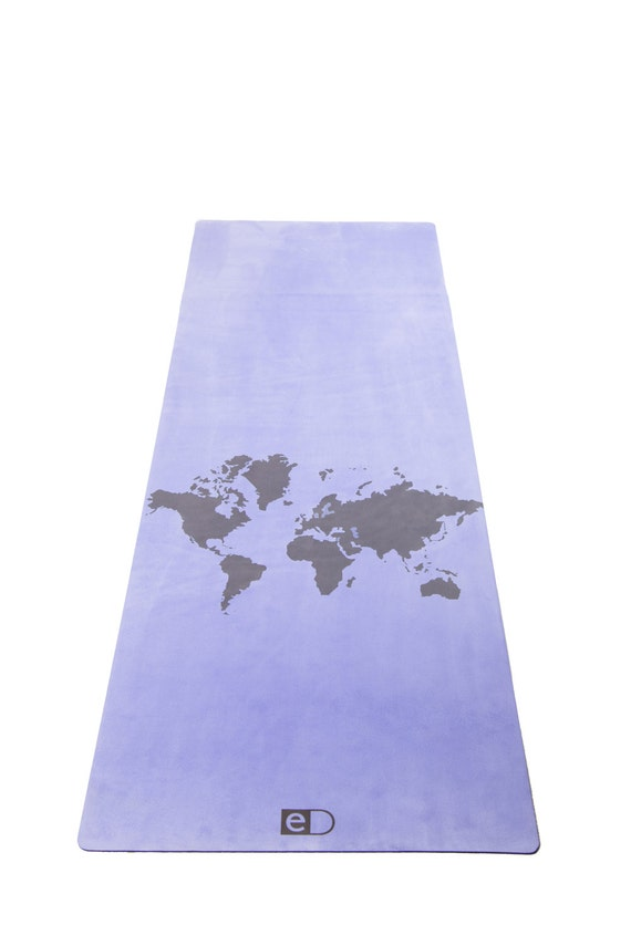 World map yoga mat gift yoga gift gift for him gift for gumiabroncs Choice Image