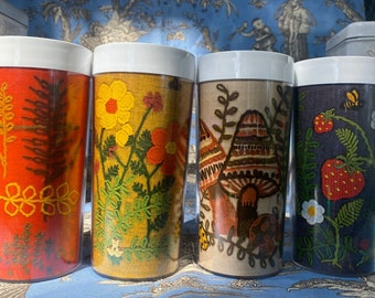 Vintage West bend thermo serv 1970's insulated tumblers