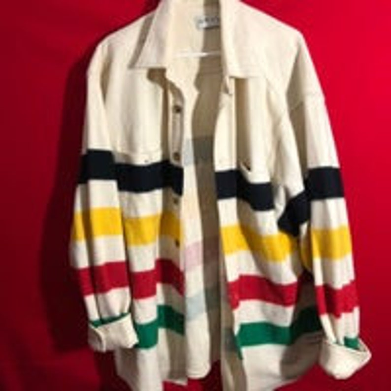 Vintage Hudson Bay style multistripe Orvis unisex jacket size XXL incredible condition