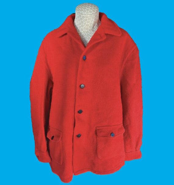 Original Hudson Bay Red wool coat unisex see measu