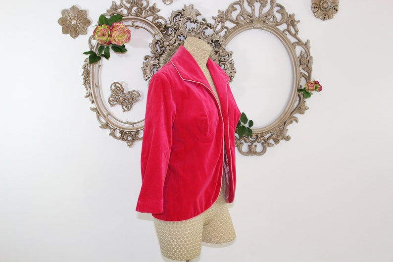 Hot Pink Velvet Blazer Vintage 1980/'s .