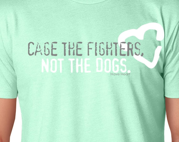 Cage the Fighter Not the Dogs Jiu Jitsu Charity T-Shirt
