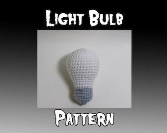 Light Bulb Crochet Pattern - Amigurumi Light Bulb Pattern - Crochet Light - Crochet Bulb