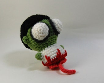 Half Zombie Crochet Doll - Amigurumi Zombie Half - Crochet Zombie with Intestines and Spinal Cord - Creepy Cute Crochet Zombie