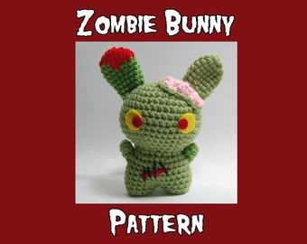 Zombie Bunny Amigurumi Pattern - PDF Crochet Pattern - Creepy Cute Bunny - horror crochet - weird crochet pattern - unique crochet