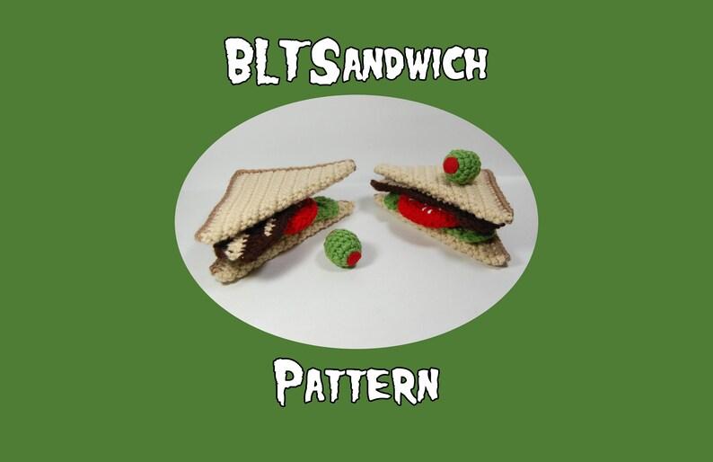 BLT Sandwich Crochet Pattern  Amigurumi Sandwich Pattern  image 0